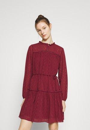 ONLLARA DRESS - Day dress - oxblood red