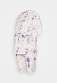 Missguided Maternity - TIE DYE TEE AND CYCLING SET - Tracksuit bottoms - lilac - 1