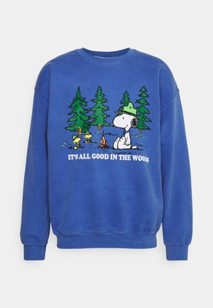 SNOOPY WITH 'IT'S ALL GOOD IN THE WOODS UNISEX - Sweatshirt - od blue