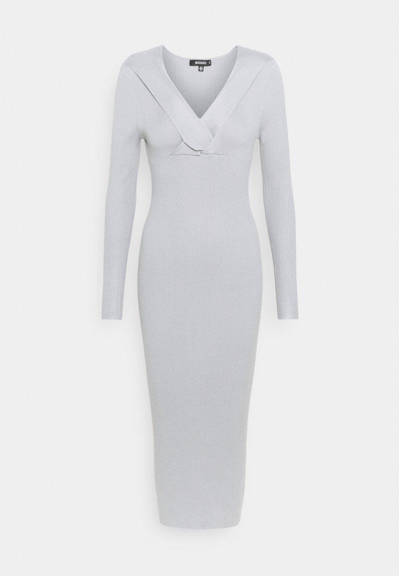 Missguided - WRAP BUST MIDAXI DRESS - Sukienka etui - grey