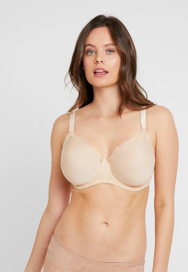 PURE UNDERWIRE MOULDED NURSING BRA - Underwired bra - nude