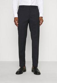 Calvin Klein Tailored - TONAL GRID CHECK EXTRAFINE SUIT - Oblek - navy - 3
