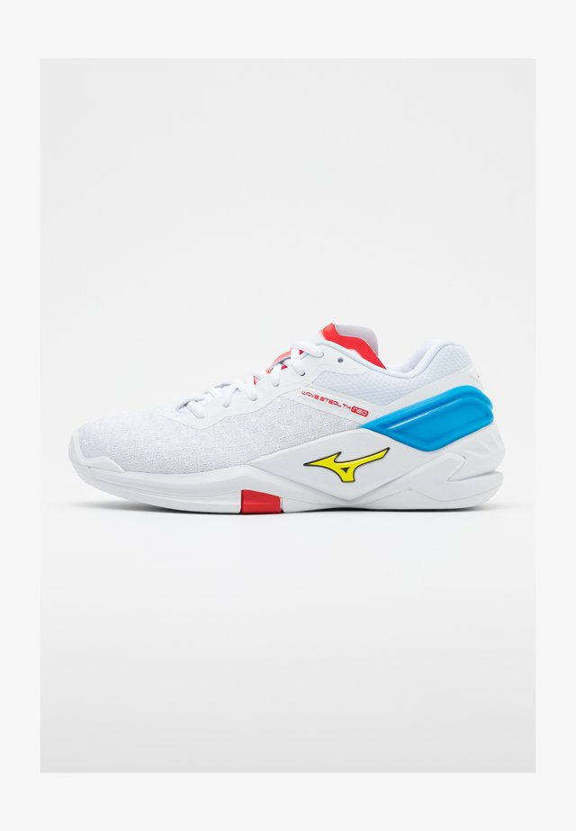 WAVE NEO - Handball shoes - white/safety yellow
