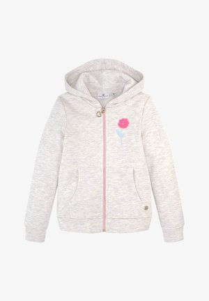 Zip-up hoodie - off white melange|white