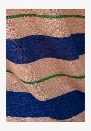 SEVIA - Print T-shirt - blau grün rosa gestreift