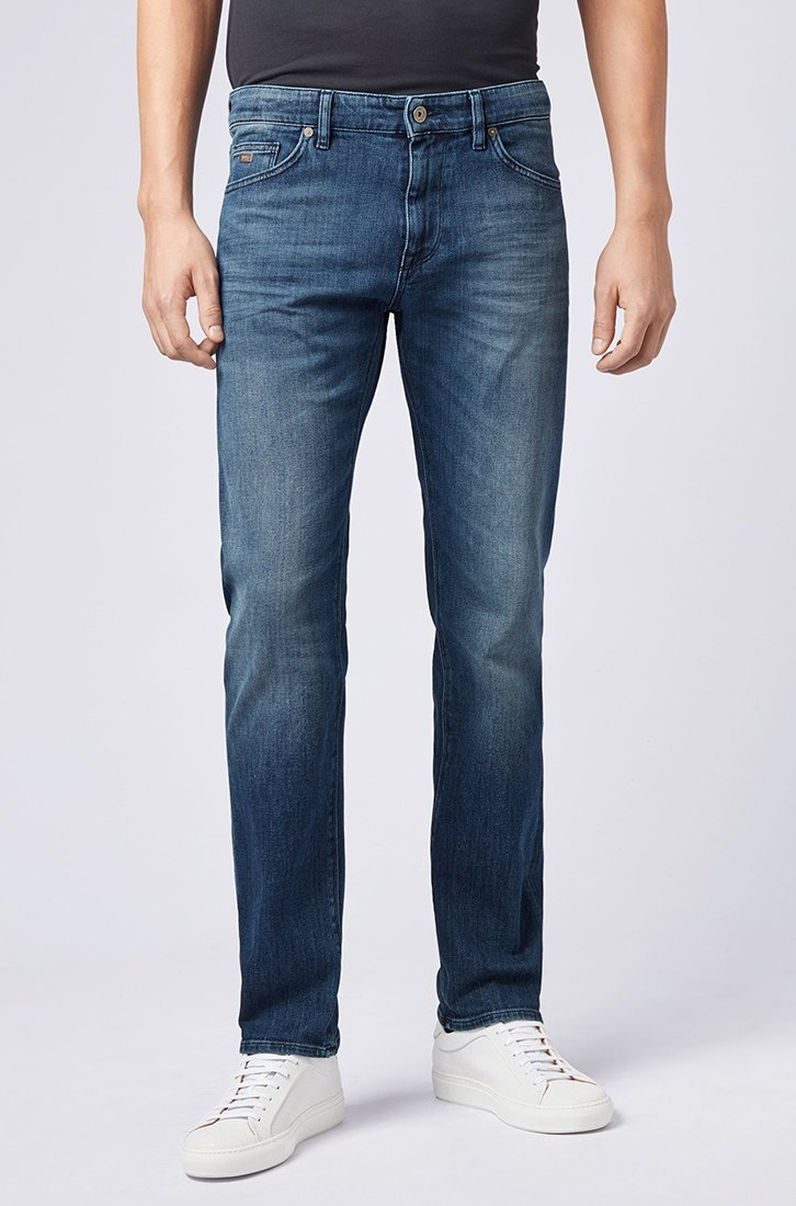 BOSS - MAINE  - Straight leg jeans - darkblue
