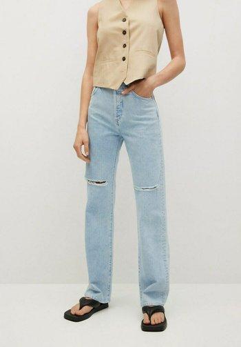 Straight leg jeans - bleach/blau