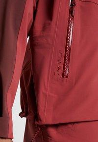 Haglöfs - STIPE JACKET WOMEN - Snowboard jacket - brick red/maroon red - 4