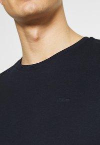 s.Oliver - Basic T-shirt - dark blue - 5