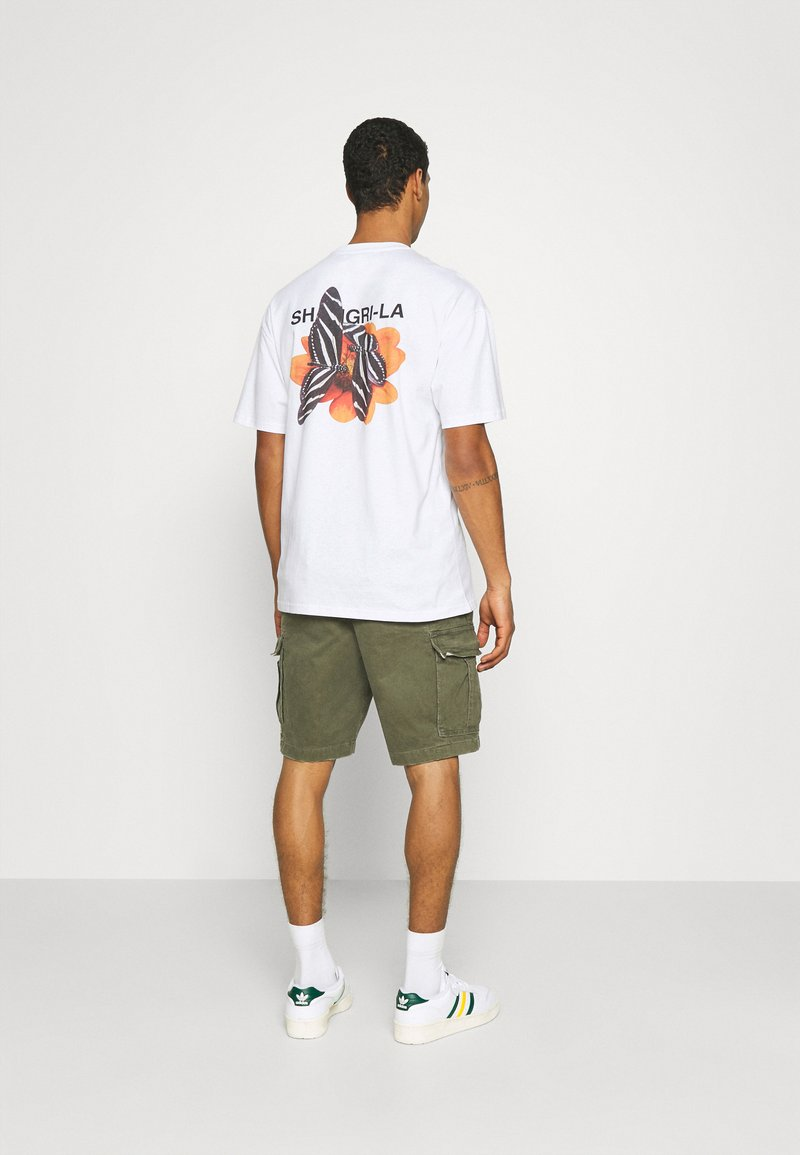 9N1M SENSE - SHANGRILA BUTTERFLIES UNISEX - Print T-shirt - white