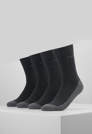 SOFT WALK 4 PACK - Chaussettes - anthracite