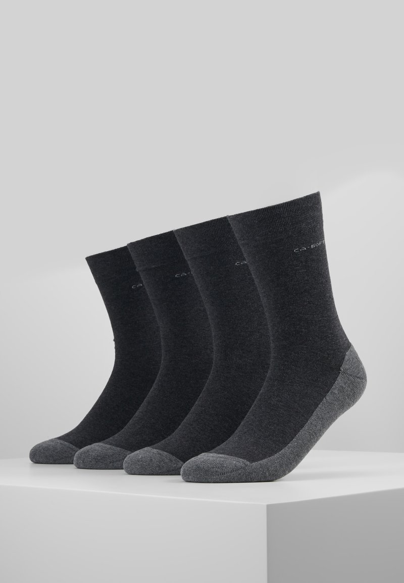 camano - SOFT WALK 4 PACK - Strømper - anthracite
