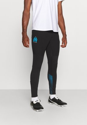 OLYMPIQUE MARSAILLE TRAINING PANT WITH POCKETS WITH ZIPS - Equipación de clubes - black/bleu azur
