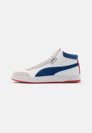 COURT LEGEND COLLAR UNISEX - High-top trainers - white/limoges/high risk red