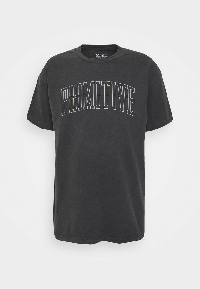 COLLEGIATE WORLDWIDE PYGMENT DYED TEE - T-shirts med print - black