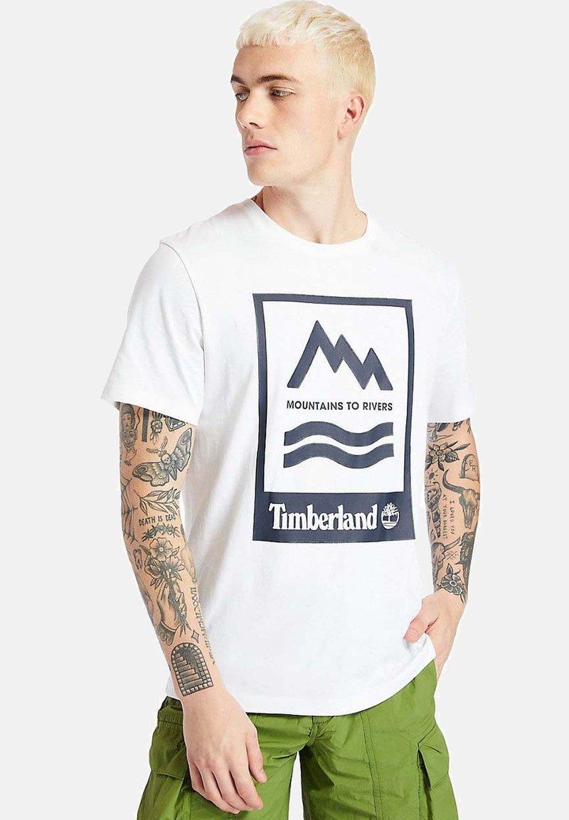 Timberland - Print T-shirt - white