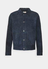 DANTE - Leather jacket - navy