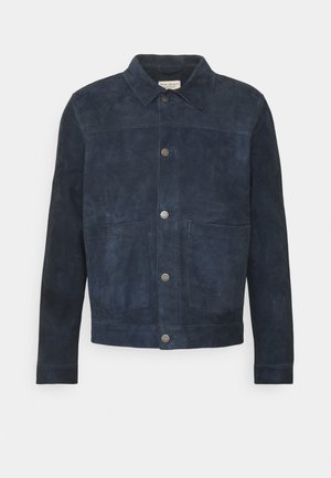 DANTE - Leather jacket - navy
