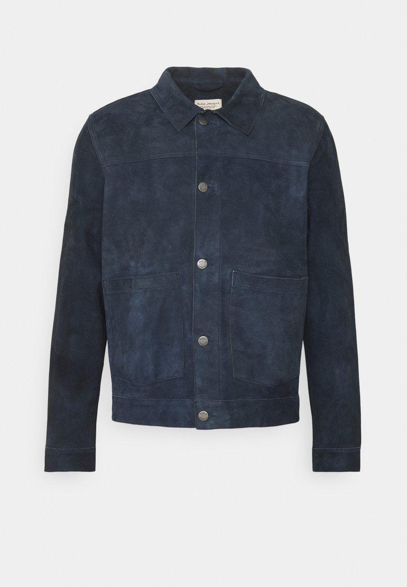 Nudie Jeans - DANTE - Leather jacket - navy