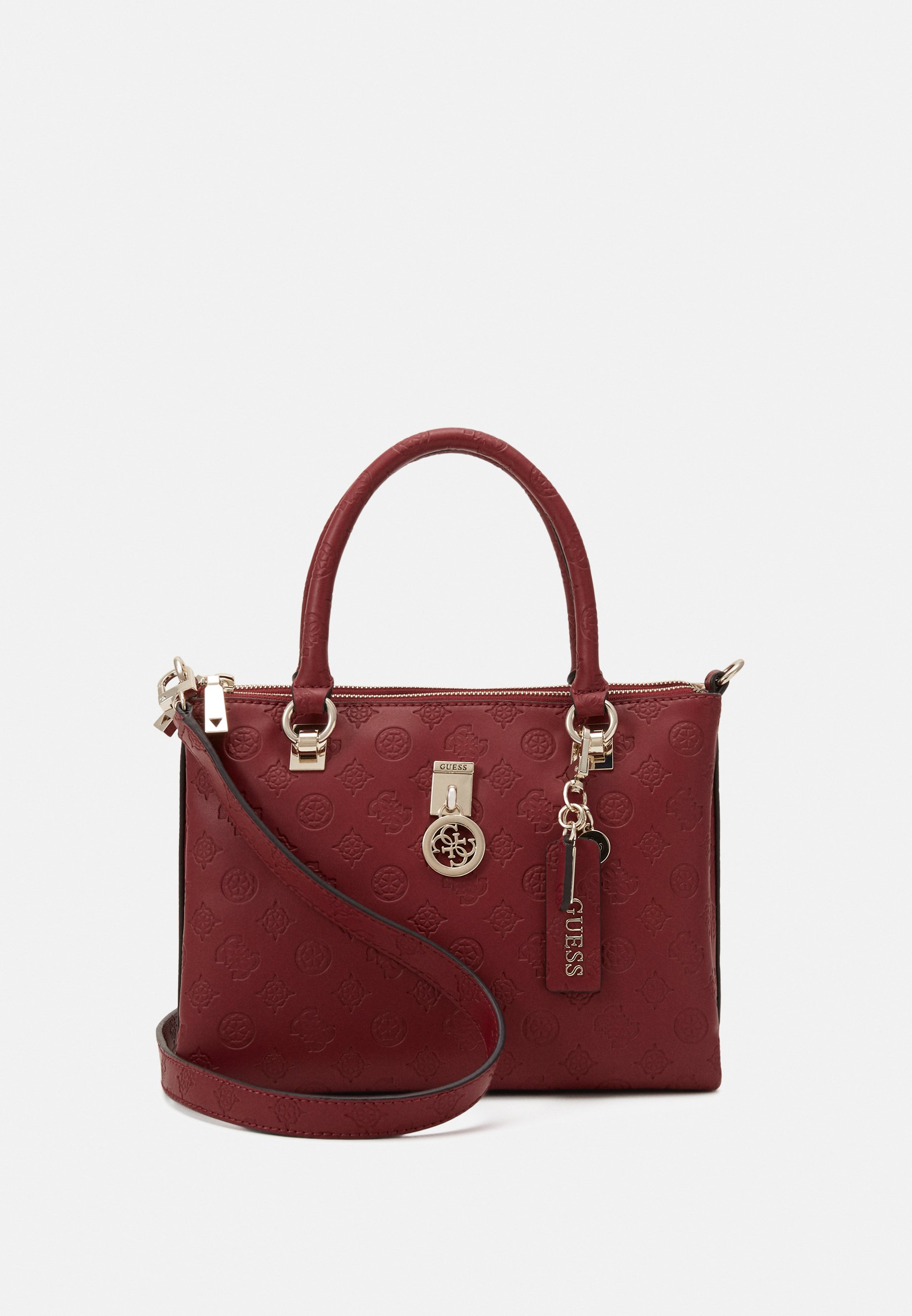 Guess JANAY SMALL SOCIETY SATCHEL SET Håndveske rosewood