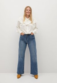 Violeta by Mango - LINDA - Button-down blouse - gebroken wit - 1