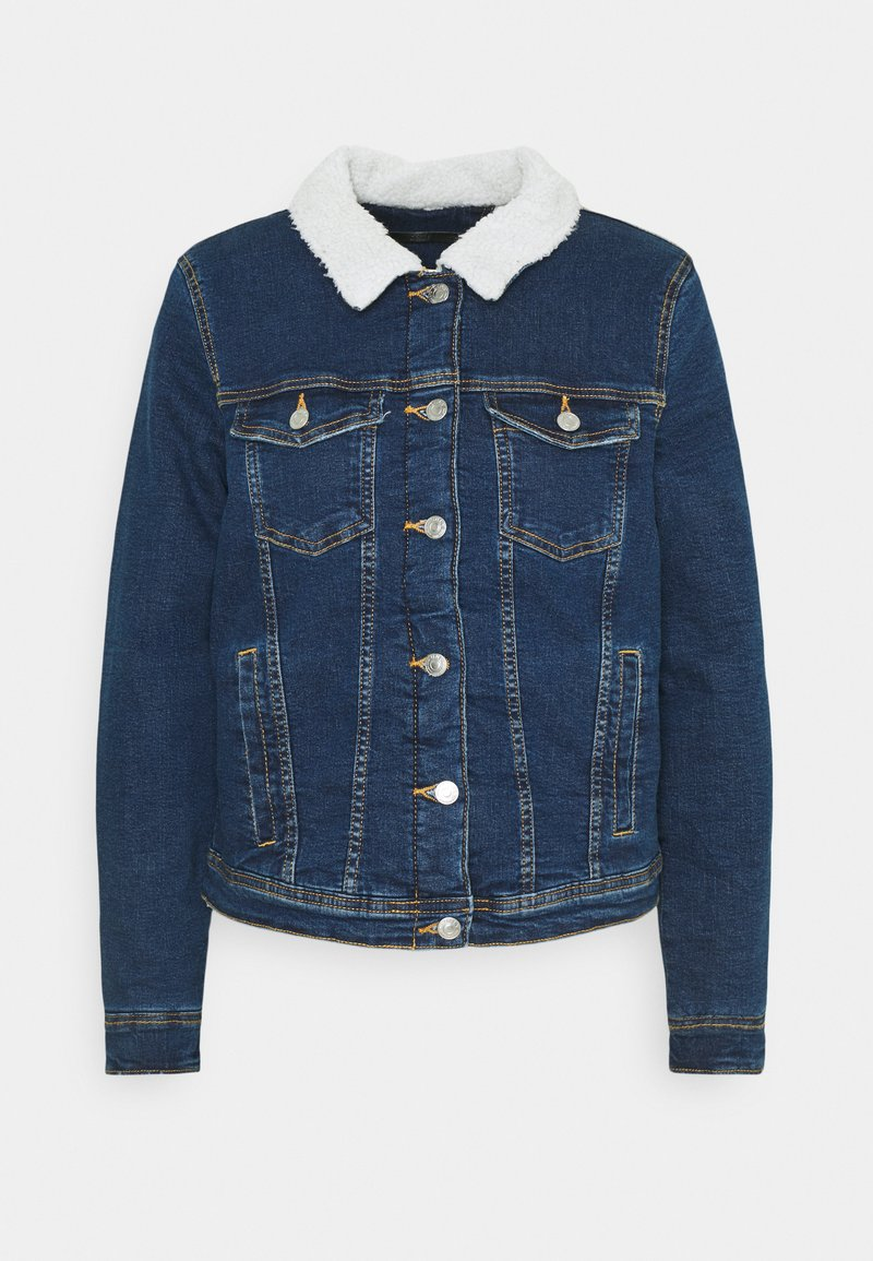 ONLY - ONLTIA JACKET BEST - Denim jacket - medium blue denim