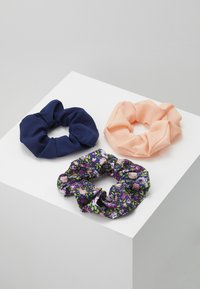 Pieces - PCFLORRIE SCRUNCHIE 3 PACK - Hair Styling Accessory - navy blazer/peach - 0