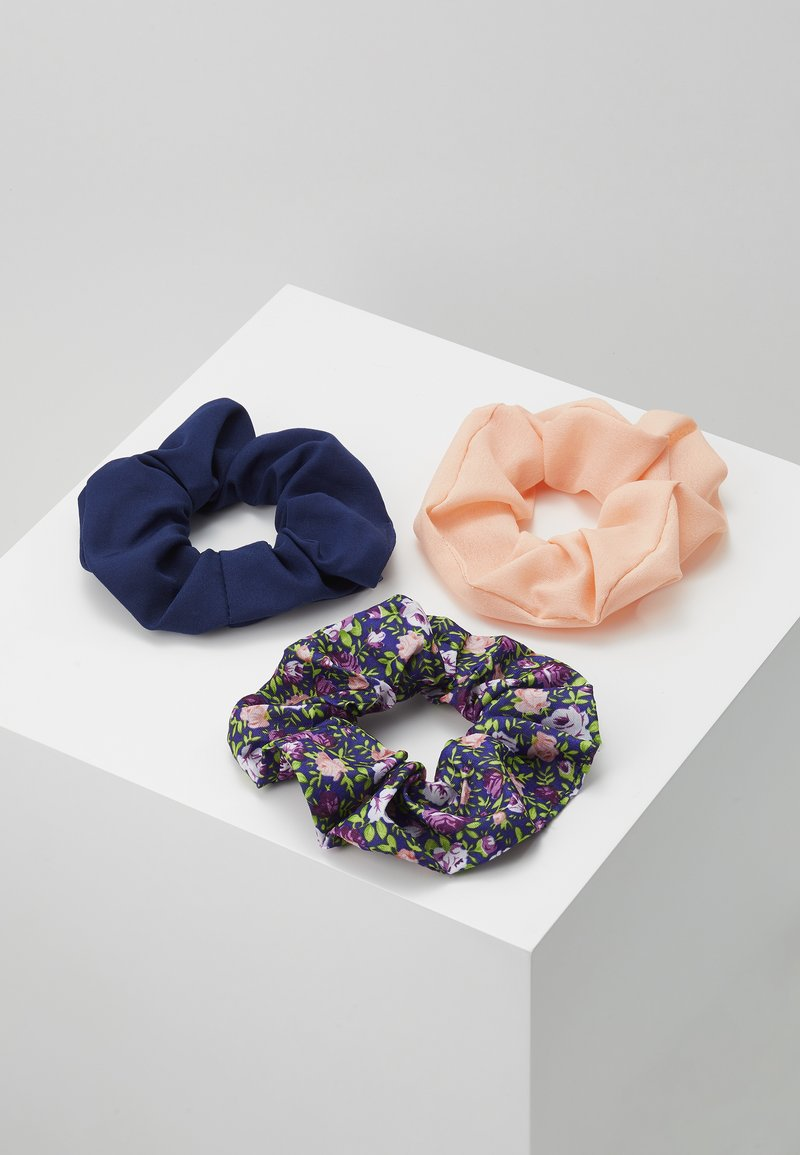 Pieces - PCFLORRIE SCRUNCHIE 3 PACK - Hair Styling Accessory - navy blazer/peach