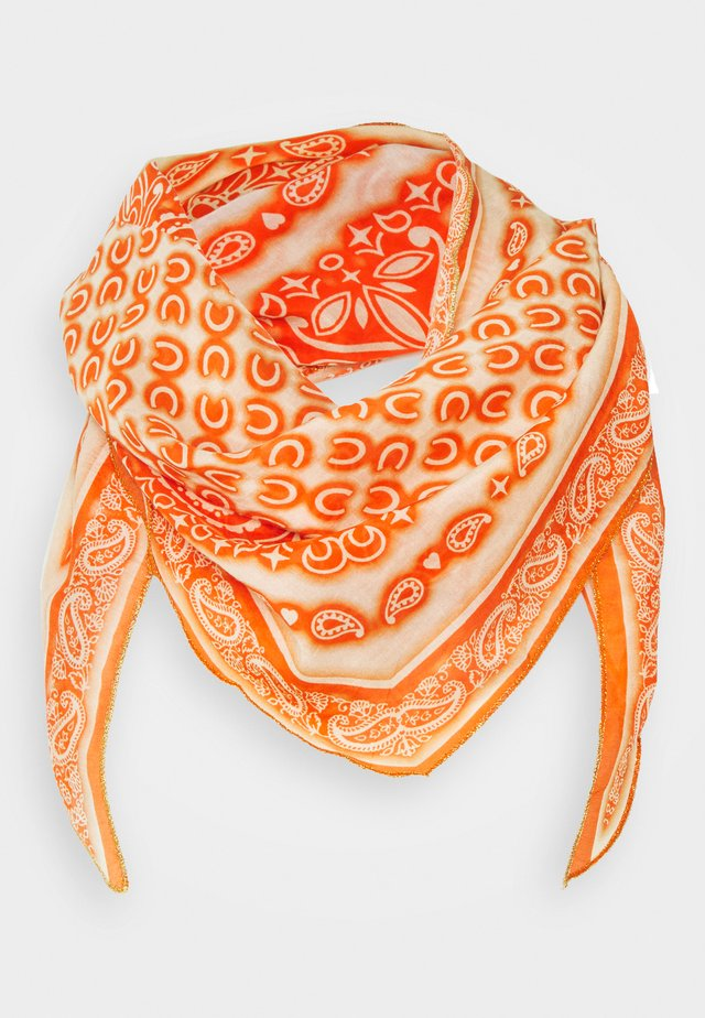PAISLEY EDGED SHAPE - Scarf - orange