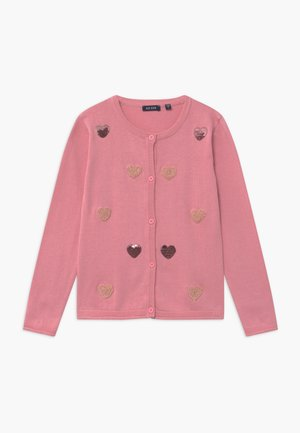 KIDS SEQUIN HEARTS - Strikjakke /Cardigans - mauve
