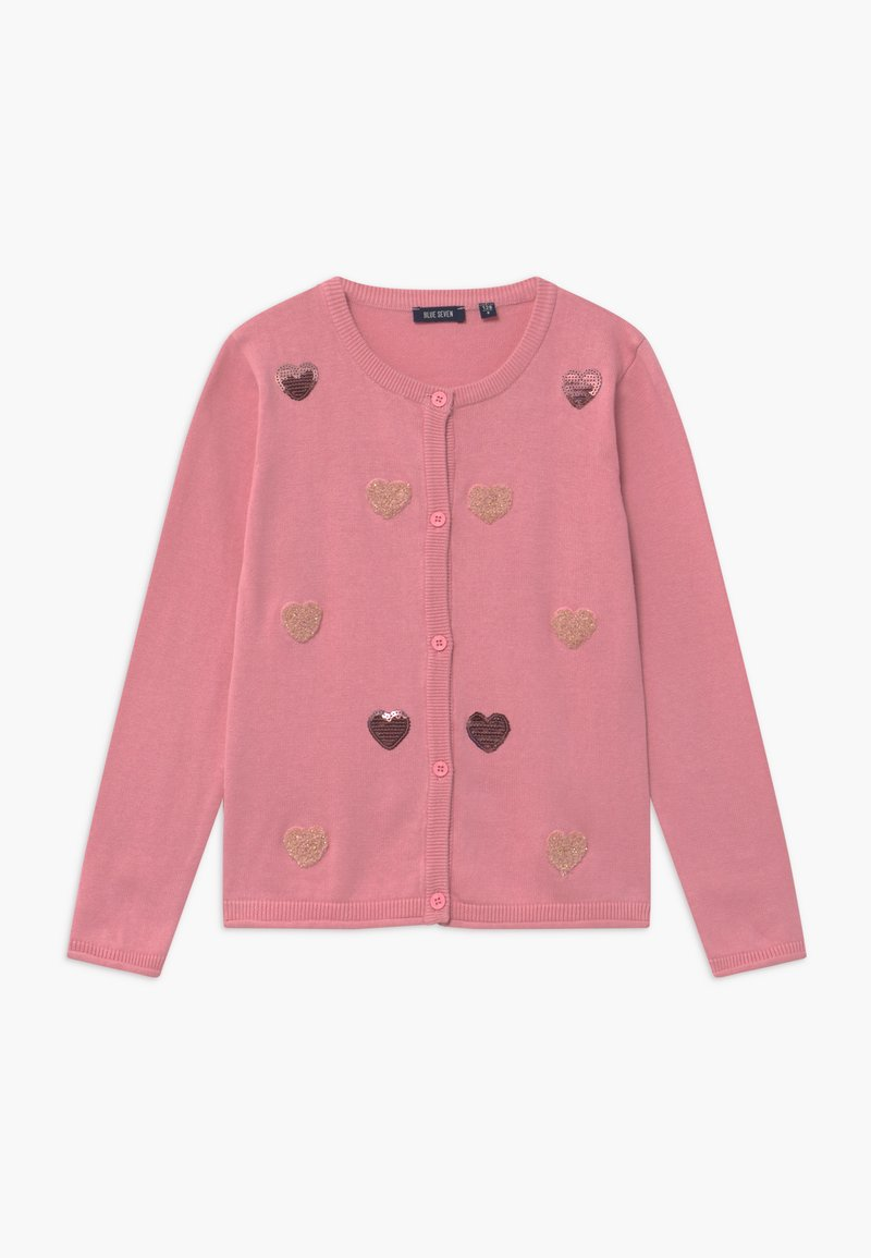 Blue Seven - KIDS SEQUIN HEARTS - Cardigan - mauve