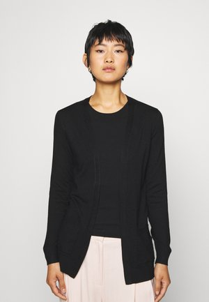 BASIC- Pocket cardigan - Gilet - black