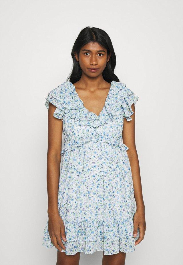 POLLY RUFFLE MINI DRESS - Sukienka letnia - heather ditsy