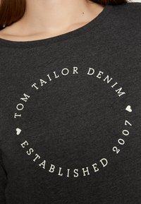 TOM TAILOR DENIM - LOGO PRINT - Sweatshirt - shale grey melange - 7