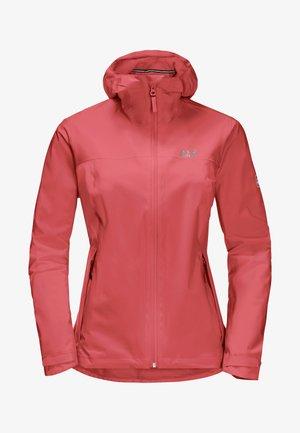 JWP SHELL - Waterproof jacket - coral red