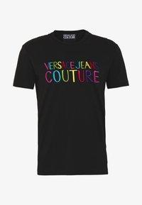 Versace Jeans Couture - COLOUR EMROIDERED LOGO - T-shirt imprimé - black - 3