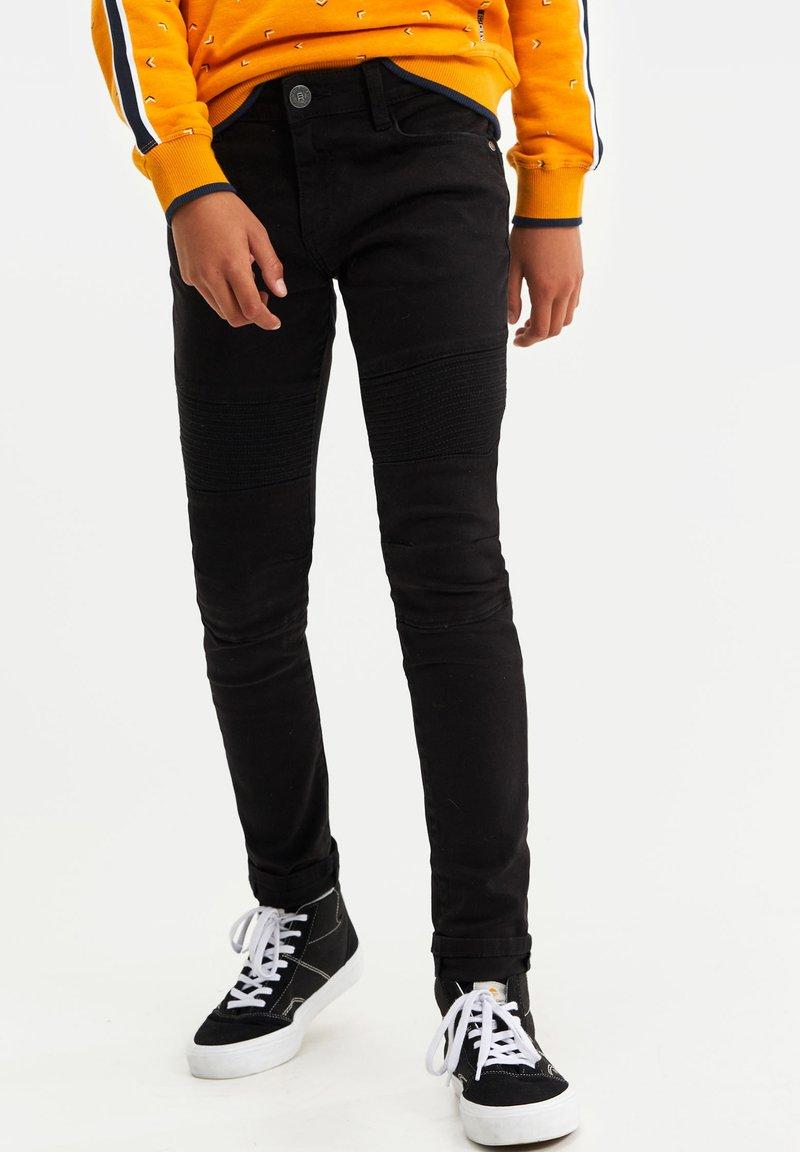 WE Fashion - BIKER - Jeans Skinny Fit - black