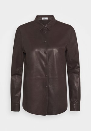 JUNA - Button-down blouse - dark lava