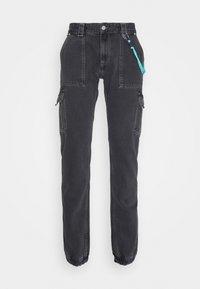 Tommy Jeans - SCANTON CARGO - Jeans straight leg - save black rigid - 4