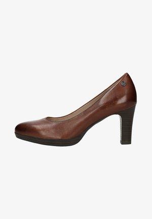 MIT GERADEM ABSATZ - Classic heels - brown