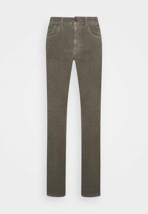 Kalhoty - dark khaki green