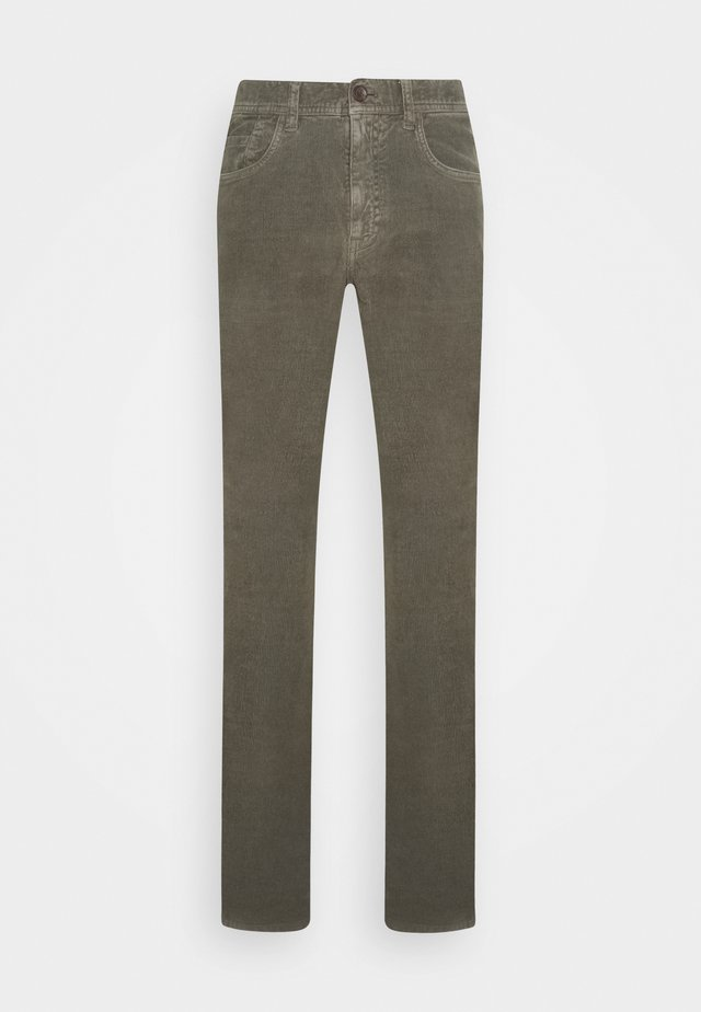 Trousers - dark khaki green