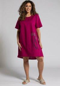 Ulla Popken - Day dress - magnolienrot - 0