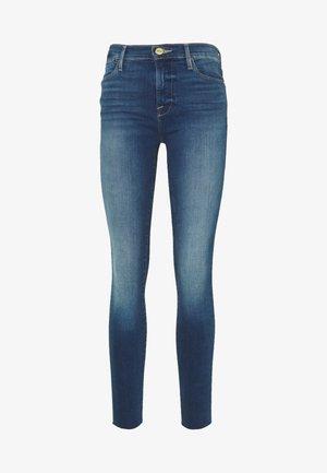 HIGH RAW EDGE - Jeans Skinny Fit - blue denim