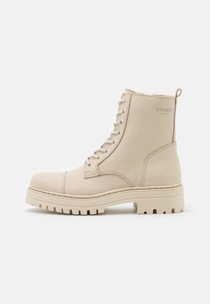 HAVARLY - Lace-up ankle boots - beige