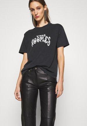 PANTS - Pantalon en cuir - black