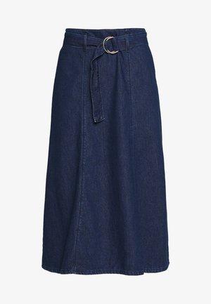 ONLRONJA BELTED SKIRT - Áčková sukně - medium blue denim