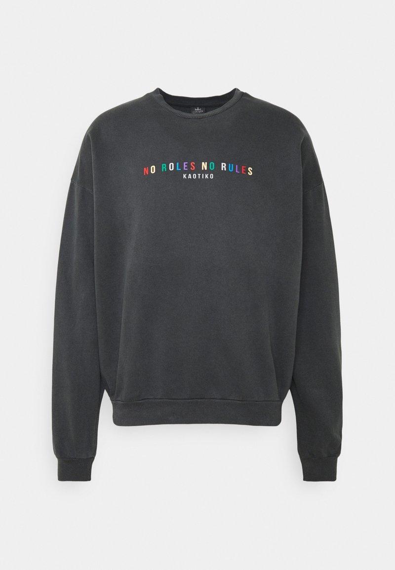 Kaotiko - CREW NO ROLES UNISEX - Sweatshirt - grey