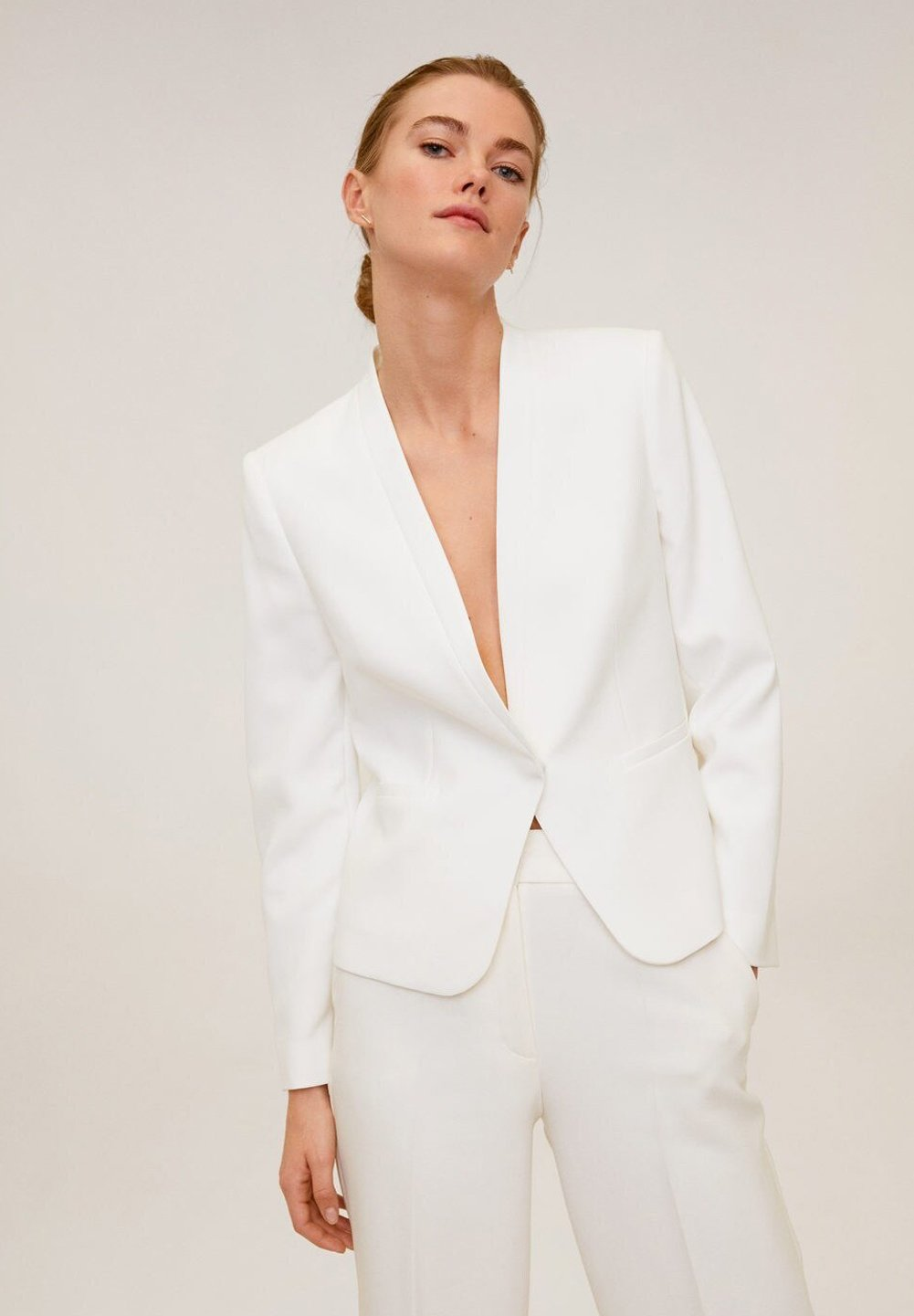 Mango LELI - Blazer - cremeweiß | Damenbekleidung billig