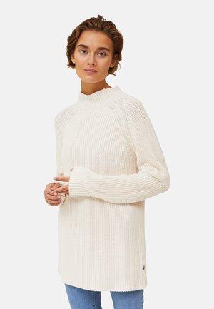 Stickad tröja - offwhite